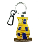 Wooden Rowhouse Key Chain - Yellow - 5