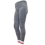Ladies - Lumberjack leggings - Grey with Red and white trim