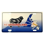 Licence Plate - Newfoundland Dog with Map