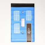 Hand Painted - Row House  - Switch Plate - Blue