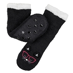 Coffee Shoppe - Reading Socks - Black Cat