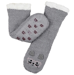 Coffee Shoppe - Reading Socks - Grey Cat