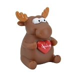 Toy Moose with Squeezable Heart
