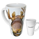 Embossed 3D  - Moose with Newfoundland  - Mug