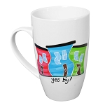 Hand Painted -  Jelly Bean Row - Yes B'y - Mug