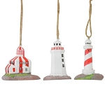 Ornament - 3D - Lighthouses of Newfoundland  - 3 Pk
