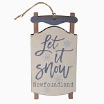 Ornament - Wooden Sleigh - Let it Snow Newfoundland - 5