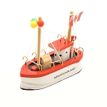 Ornament - Mini Wooden Fishing Boat - Newfoundland -   3