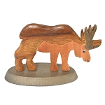 Wooden Moose Figurine - 2.5
