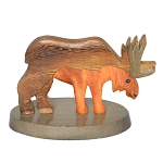 Wooden Moose Figurine - 3.5
