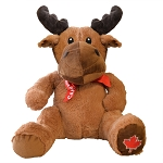 Plush - Moose With Canada Maple Leaf - 14