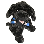 Plush - Newfoundland  Dog w Blue Newfoundland  Flag Ribbon - 10
