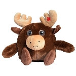 Plush - Big Eye Canadian Moose with Maple Leaf - 9