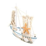 Wooden Fishing Boat - Light Blue