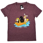 T Shirt - Animals in Dory - Newfoundland and Labrador - Maroon