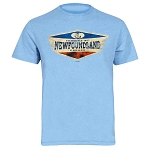Youth - T Shirt - Newfoundland Canada - Established 1497 - Heather Blue