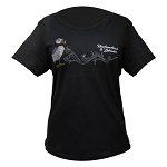 Ladies - T Shirt - Newfoundland and Labrador Rhinestone - Puffin