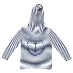 Kids - Hoodie - First Class - Authentic Nautical Apparel - Newfoundland &  Labrador- Blue Stripe