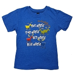 T Shirt - Kids - Newfoundland and Labrador - One Moose - Two Moose - Red Moose - Blue Moose