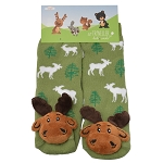 Moose Forest Toes Socks - Green