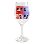 Hand Painted - Wine Glass - Sold Assorted Colours (HAND WASH ONLY)