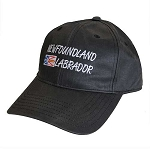 Newfoundland & Labrador with Newfoundland Flag - Cap - Black