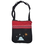 Purse - Inuk - Faux Suede - Red and Black