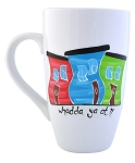 Hand Painted - Jelly Bean Row - Whadda Ya at? - Mug