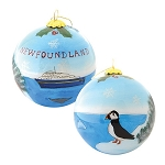 Ornament - Handpainted Scenic Glass Bulb - Comes with Velvet Gift Box - 3