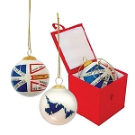 Ornament - Mini Ball - Newfoundland Flag with Newfoundland Sayings - 2