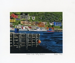 Bobbi Pike - North Side: Petty Harbour - 8 x 10 - Matted Print