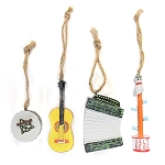 Ornaments - Set of 4 - Newfoundland  Musical Instruments