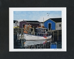 Bobbi Pike - Petty Harbour Blues - 8 x 10 -Matted Print