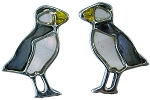 Glacier Pearle  - Puffin  - Stud  Earrings