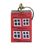 Ornament - Hand Painted Block Rowhouse - Sold  Separately