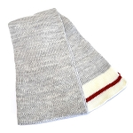 Scarf - Lumberjack - Grey with Red and Beige Trim