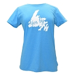 Ladies  T Shirt - Yes B'Y - Blue