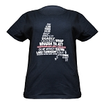 Ladies - T Shirt - Newfoundland Map with Sayings