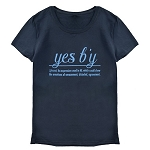 Ladies - T Shirt  - Yes B'y - Black