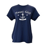 Ladies T shirt  - Nauti Girl - Anchor